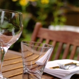 Dine al fresco in The Garden at the Rose & Crown